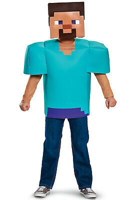 Minecraft Kids Costume (Brand New Minecraft Pixel Steve Classic Child)