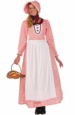 American Colonial Pioneer Woman Adult Costume - Womens Colonial Dress