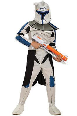 Brand New Star Wars Clone Wars Clone Trooper Captain Rex Child Halloween Costume - Star Wars Captain Rex Halloween Costume