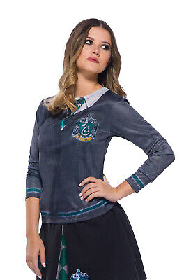 Brand New Harry Potter Hogwarts House Slytherin Printed Top Adult Costume