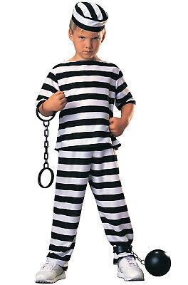 Brand New Convict Jail Prisoner Boy Child Costume - Boys Convict Costume
