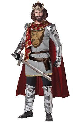 Brand New King Arthur Renaissance Medieval Knight Adult Costume - Adult King Costumes