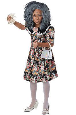 Children's Old Lady Costume (Fancy Nana Old Lady Grandma Child Costume)