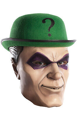 Brand New DC Comics Batman Villains The Riddler Deluxe Latex Adult Mask - The Riddler Mask