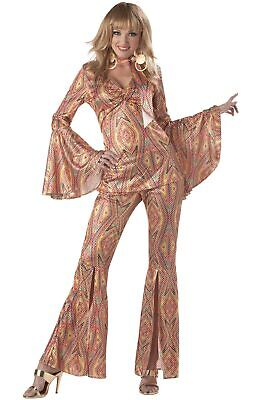 Brand New Women 70's Hippy Retro Disco Licious Halloween Costume - 70's Womens Halloween Costume