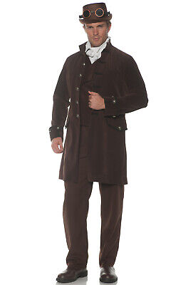 Brown Coat Costume (Victorian Steampunk Jack the Ripper Frock Coat Adult Costume)
