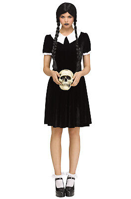 Wednesday Costume Addams Family (The Addams Family Wednesday Addams Inspired Gothic Girl Adult)