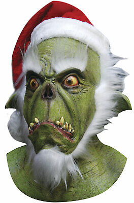 Brand New Christmas Green Grinch Santa Adult Full - Make Grinch Mask