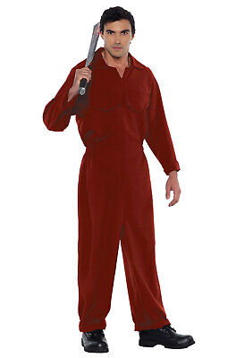 Movie Inspired Costume (Us Movie Inspired Tethered Red Boiler Suit Adult)