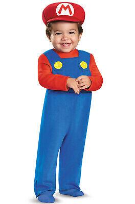 Super Mario Baby Costume (Brand New Super Mario Brothers Mario Infant Baby)