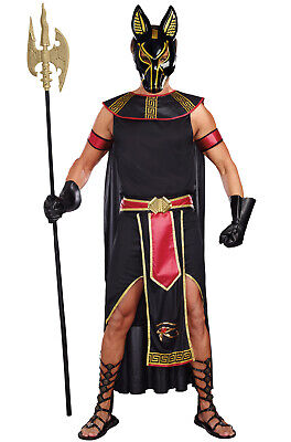 Men Egyptian Costumes (Brand New Anubis Egyptian God Of The Underworld Men Adult)