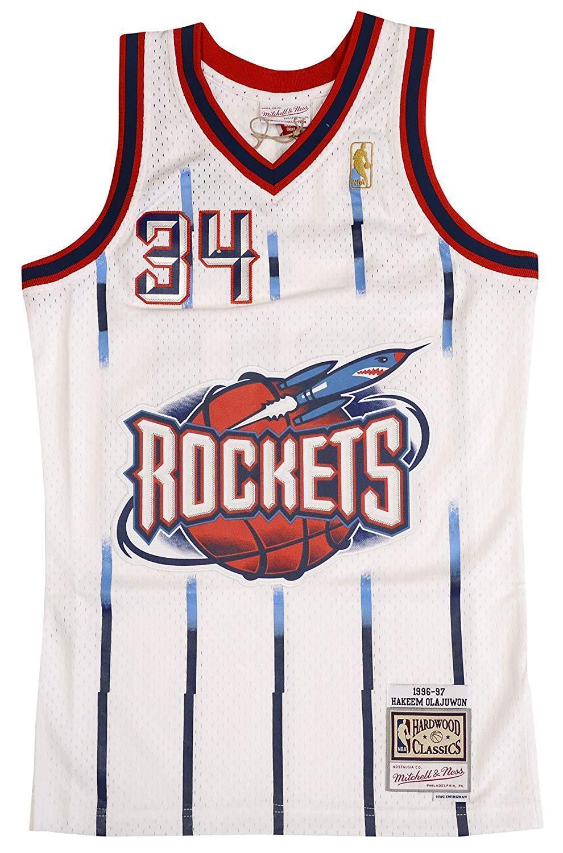 Hakeem Olajuwon Houston Rockets Mitchell   Ness Swingman Jersey XL ... 21d6a20f8
