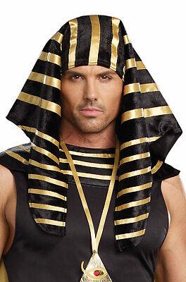 Brand New Egyptian Pharaoh Men Head Piece Costume Accessory