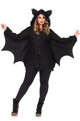 Female Bat Costume (Brand New Cozy Bat Animal Plus Size)