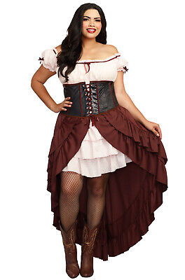 Plus Size Saloon Costumes (Western Saloon Gal Plus Size)