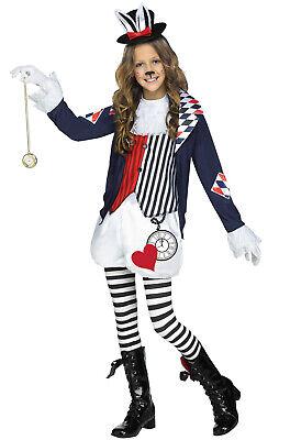 Crazy Cotton Tail Rabbit Alice in Wonderland Child - Crazy Alice Kostüm