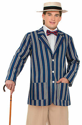 Brand New Roaring 1920s Boater Jacket Adult Costume (XL)](Roaring Twenties Mens Costumes)