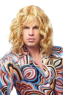 Blonde Surfer Wig (BLONDE SURFER SURF DUDE 1970S 80'S MEN MALE MODEL COSTUME WIG ZOOLANDER)