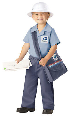 Toddler Mailman Costume (Brand New Mr Postman USPS Mailman Licensed Uniform Toddler Halloween)