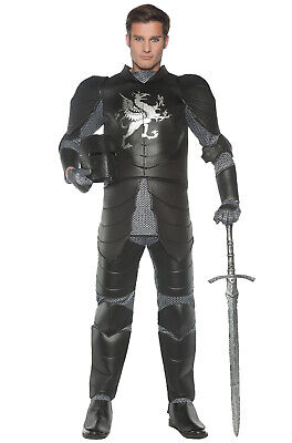 Black Knight Warriors Renaissance Adult Costume - Black Knight Costumes