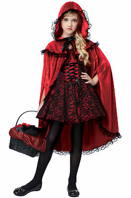 Brand New Deluxe Red Riding Hood Girls Child Costume