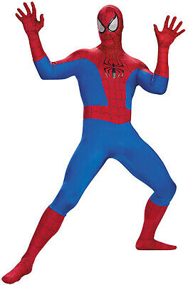 Men Classic Marvel Spider-Man Peter Parker Deluxe Adult - Spiderman Costume Deluxe
