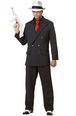 Mob Boss Mafia Al Capone Gangster Style Adult Men Costume - Mafia Costume Men