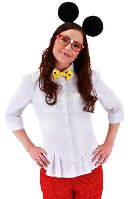 Brand New Disney Mickey Mouse Nerd Adult Costume - Nerd Kostüm Kit