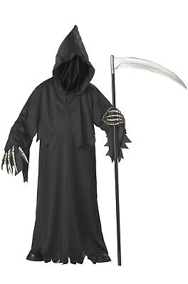 Baby Scary Halloween Costumes (Grim Reaper Deluxe Scary Child Halloween)
