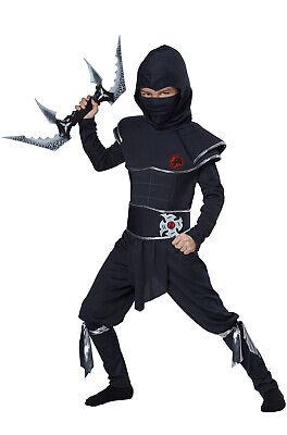 Brand New Japanese Stealth Ninja Warrior Assassin Child Costume
