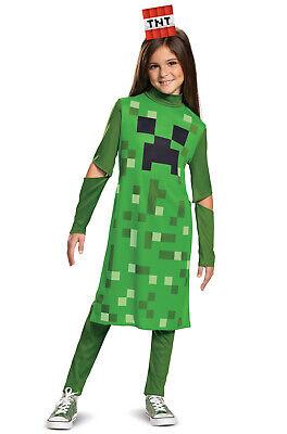 Minecraft Creeper Girl Classic Child - Creeper Girl Kostüm