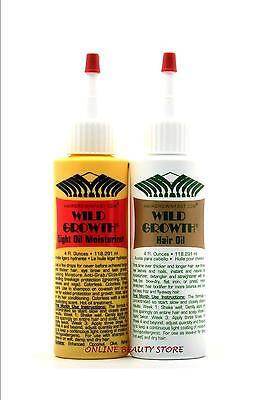 WILD GROWTH HAIR CARE SYSTEM, HAIR OIL'S Detangler &/or Extender 4 oz  Hair Care System
