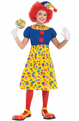 Brand New Carnival Circus Clown Girl Child Costume (Large)](Girls Clown Costume)