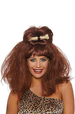 Brand New Cave Girl Caveman Bone Wig](Girl Caveman)