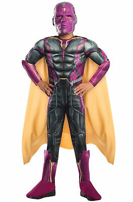 Jungen Kind Deluxe Vision Kostüm Halloween Marvel Avengers Alter von - Vision Marvel Kostüm