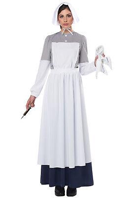 War Nurse Costume (Brand New American Civil War Nurse Clara Barton Adult)