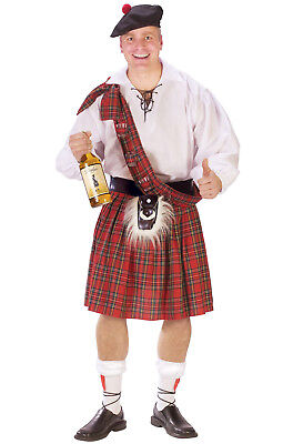 Brand New Scottish Kilt Plaid Skirt Men Adult Costume