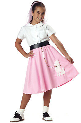 50 S Costumes (Brand New Child 50's Pink Poodle Skirt Grease)