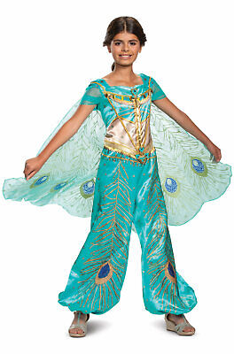Aladdin Live Action Movie Princess Jasmine Teal Deluxe Child Costume (Jasmine Baby Costume)