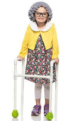 Children's Old Lady Costume (Grannie Grandma Old Lady Child)