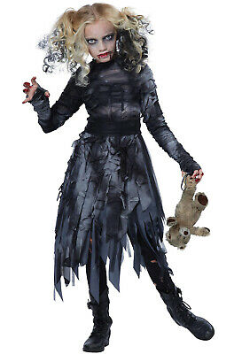 Undead Killer Zombie Ghost Dress Girls Child Costume](Zombie Costumes For Girls)