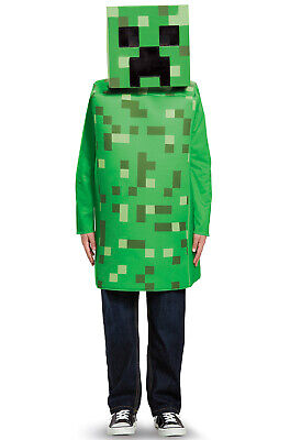 Kids Creeper Costume (Minecraft Creeper Classic Child)