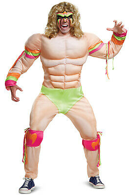 WWE Ultimate Warrior Muscle Wrestler Adult Costume](Wwe Wrestler Costume)