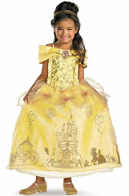 Disney Princess Beauty & the Beast Belle Storybook Prestige Child Costume 50500 ()