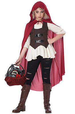 Little Girl Wolf Costume (Ain't Afraid a No Wolf Little Red Riding Hood Child)