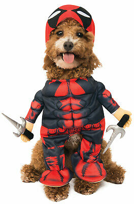 Brand New Marvel Deadpool Pet Dog Cat Costume](Deadpool Dog Costume)