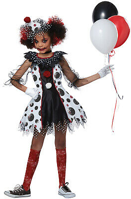 Scary Girls Costumes (Creepy Scary Clown Girl Child)