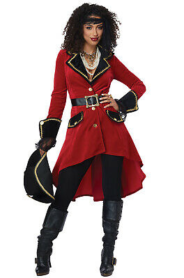 Ladies Captain Hook Costume (High Seas Heroine Pirate Captain Hook Inspired Adult)