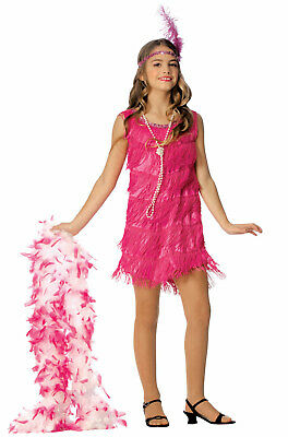 1920s Hot Pink Flapper Girls Dress Child Costume](Pink Flapper Girl Costume)