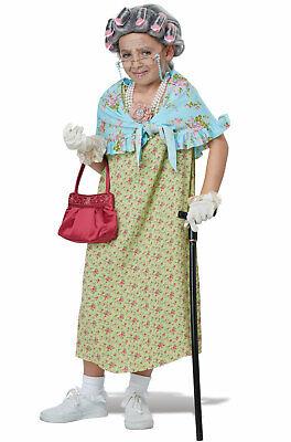 Children's Old Lady Costume (Old Lady Grandma Child Costume)